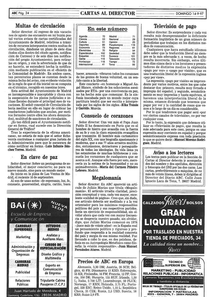 EN CLAVE DE PAZ. ABC 14.09.1997